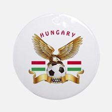 Hungary Football Design Ornament (Round)