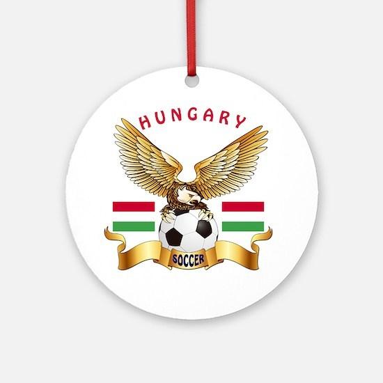 Hungary Football Design Ornament (Round)