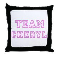 Pink team Cheryl Throw Pillow