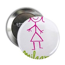 """Milagros-cute-stick-girl.png 2.25"""" Button"""