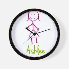 Ashlee-cute-stick-girl.png Wall Clock