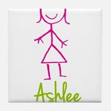 Ashlee-cute-stick-girl.png Tile Coaster