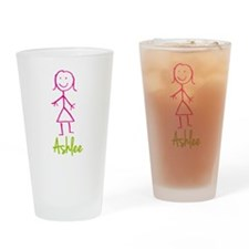 Ashlee-cute-stick-girl.png Drinking Glass