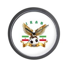 Iran Football Design Wall Clock