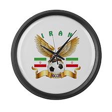 Iran Football Design Large Wall Clock