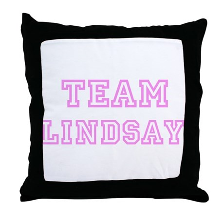 Pink team Lindsay Throw Pillow
