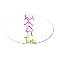 Tania-cute-stick-girl.png 20x12 Oval Wall Decal