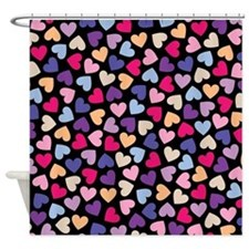 Hearts #2 - Valentines Day Pattern, Shower Curtain