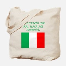 Italian Proverb What Goes Around Tote Bag