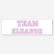 Pink team Eleanor Bumper Bumper Bumper Sticker