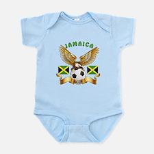 Jamaica Football Design Infant Bodysuit