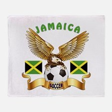 Jamaica Football Design Throw Blanket