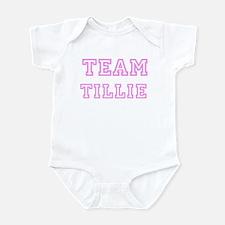 Pink team Tillie Infant Bodysuit