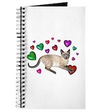 Cat Hearts Love Journal