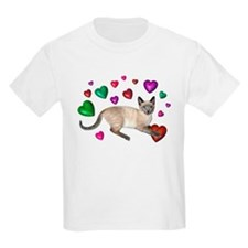 Cat Hearts Love T-Shirt