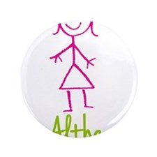 "Althea-cute-stick-girl.png 3.5"" Button"
