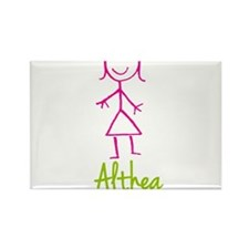 Althea-cute-stick-girl.png Rectangle Magnet (100 p