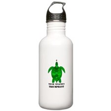 Green Turtle-Tough-Tenacious-Triumphant Water Bottle