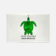 Green Turtle-Tough-Tenacious-Triumphant Rectangle