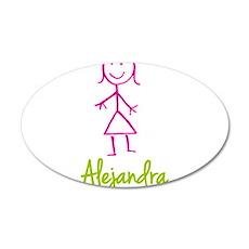 Alejandra-cute-stick-girl.png 20x12 Oval Wall Deca