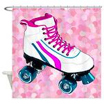 Corey Tiger 80s Roller Skate Shower Curtain