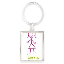 Lorrie-cute-stick-girl.png Portrait Keychain