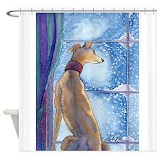 Cute Whippet Shower Curtain