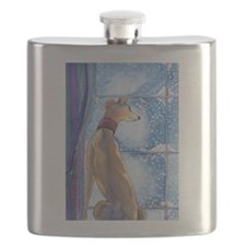 Cute Whippet Flask