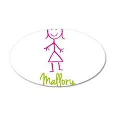 Mallory-cute-stick-girl.png 20x12 Oval Wall Decal