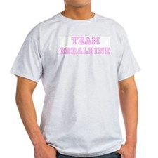 Pink team Geraldine Ash Grey T-Shirt