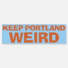 Keep Portland Weird - Orange Sticker (Bumper)