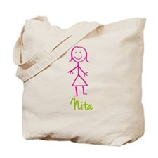 Nita-cute-stick-girl.png Tote Bag