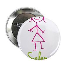 "Selena-cute-stick-girl.png 2.25"" Button"