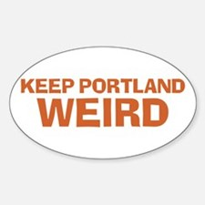 Keep Portland Weird - Orange Decal