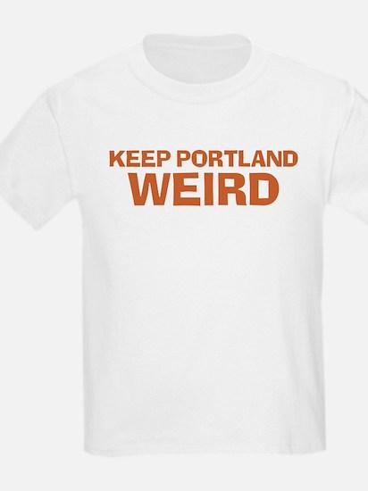Keep Portland Weird - Orange T-Shirt
