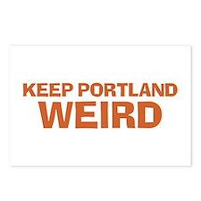 Keep Portland Weird - Orange Postcards (Package of
