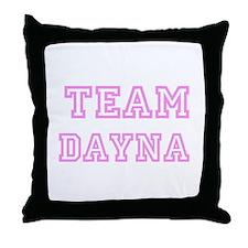 Pink team Dayna Throw Pillow
