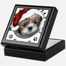 Merry Christmas Shih Tzu with Santa Hat Keepsake B