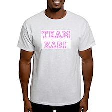Pink team Kari Ash Grey T-Shirt