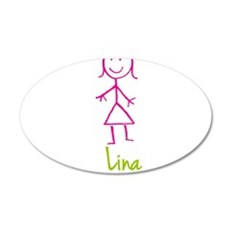 Lina-cute-stick-girl.png Wall Decal