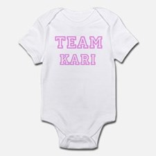 Pink team Kari Infant Bodysuit