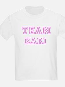 Pink team Kari Kids T-Shirt