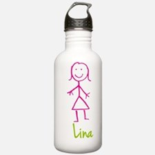 Lina-cute-stick-girl.png Water Bottle