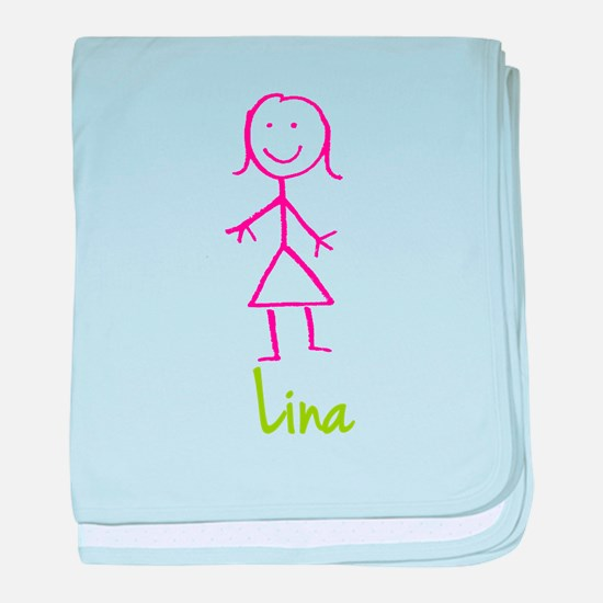 Lina-cute-stick-girl.png baby blanket