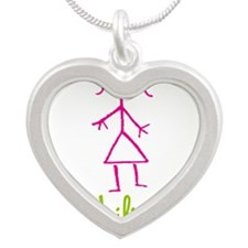 Lilian-cute-stick-girl.png Silver Heart Necklace