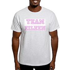 Pink team Eileen Ash Grey T-Shirt