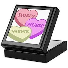 Valentines Day Candy Hearts Keepsake Box