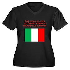 Italian Proverb Head Of An Ass Women's Plus Size V