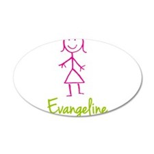 Evangeline-cute-stick-girl.png Wall Decal