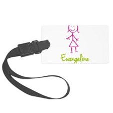 Evangeline-cute-stick-girl.png Luggage Tag